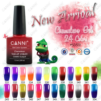 50801j 2016 Longlasting Shining Canni Professional Mood Change Nail Gel Polish Color Changing
