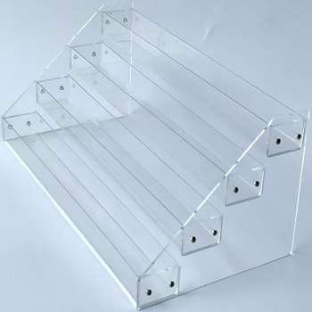Multi Layer Clear acrylic freestanding display shelf for nail polish