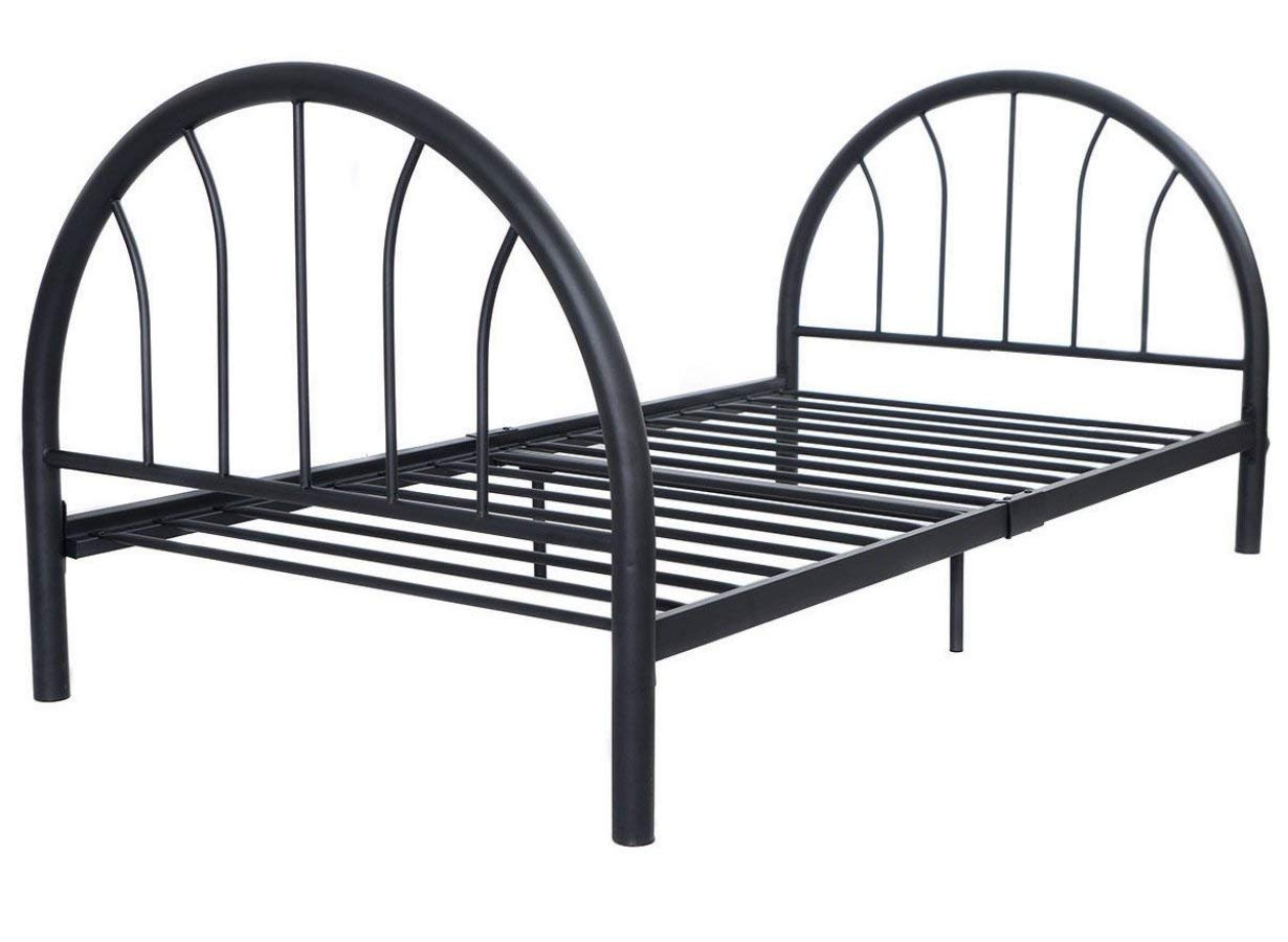 "Platform 83""x42""x35"" Black Metal Bed Frame Solid Sturdy Metal Foundation Twin Size # 638"