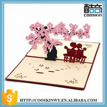 Cheapest updated oriental wedding printing different shapes greeting cards