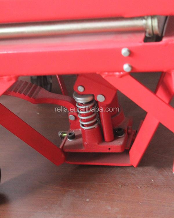 300 lbs hydraulic motorcycle scissor lift,floor type platform jack