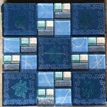 js blue crystal mosaque de salle de bains pas chers - Mosaique Salle De Bain Pas Cher