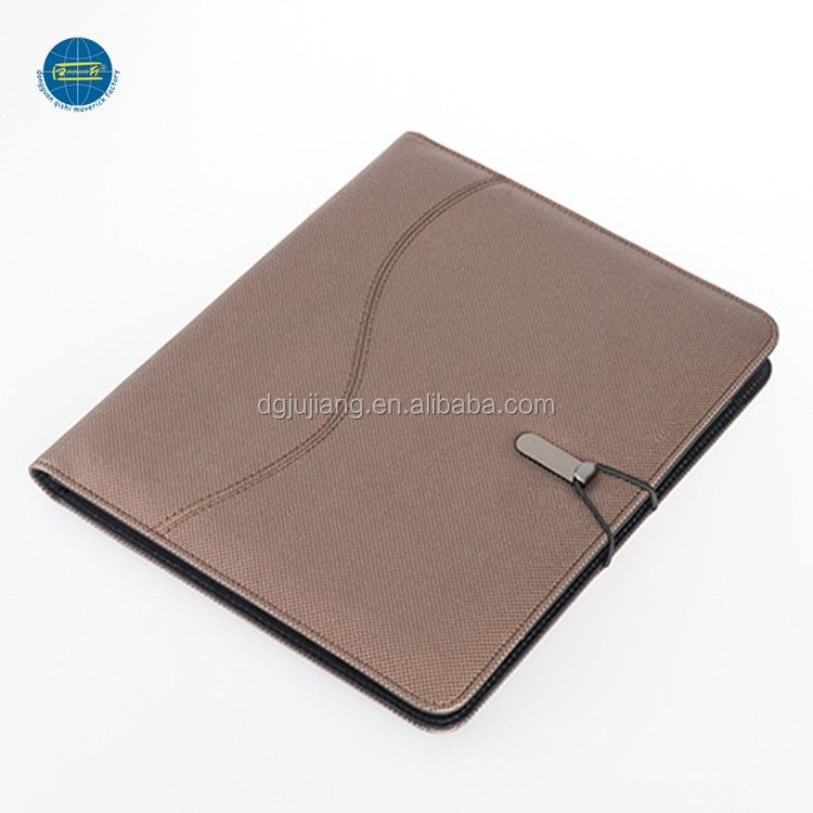 Hot sale ipad holder portfolio with power bank and notepad