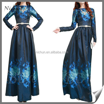 Ladies Western Print Dress Alibaba Pictures Of Latest Gowns Designs ...