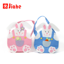 Jiahe bunny easter craft decoration basket bag wholesale blank easter buckets