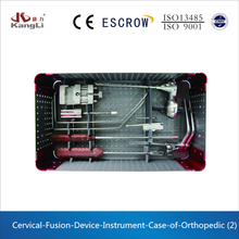 Cervical fusion device orthopedic box for orthopedic instrument