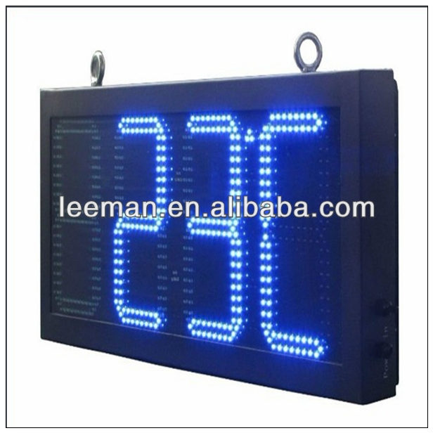 time digital led clock and temperature display indoor led large screen display led illuminated message board