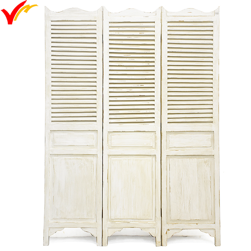 Hand Painted Shabby Chic French Country Wooden Folding Screen Room Divider View Luckywind Product Details From Handicrafts Company