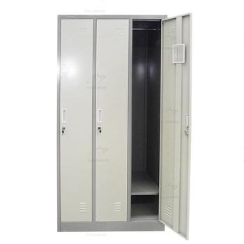 Mobilier De Chambre Moderne En Acier Vêtements Armoire 3 Porte ...