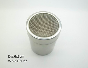 stainless steel pepper cellar and salt shaker