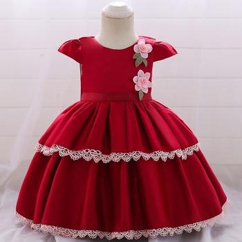 8c7fa8de631 NEW FASHION CAKE DESIGN SATIN BABY FROCK DRESS DESIGN BABY BIRTHDAY DRESS