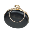 Wholesale 18cm Women Fashion Handbag Accessories Round Metal Clutch Box Purse Frame