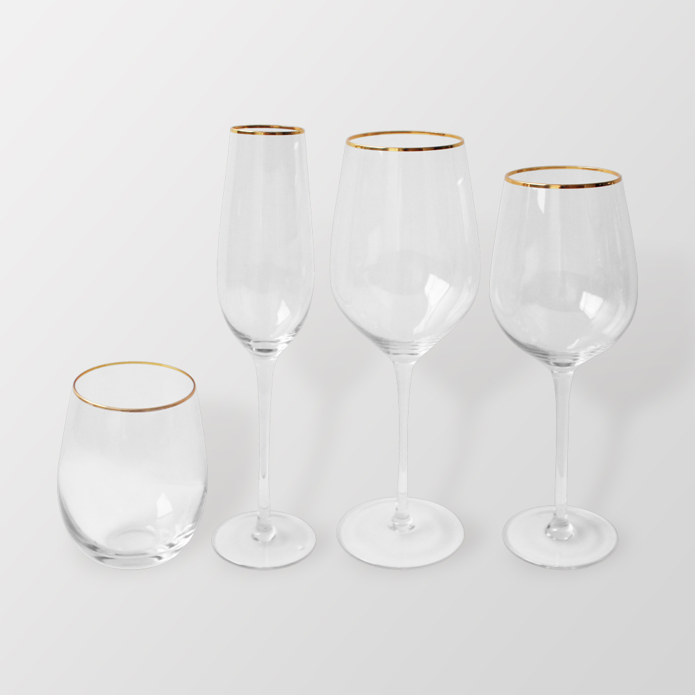 Popular design mouth blown handmade glassware clear red wine <strong>glass</strong>