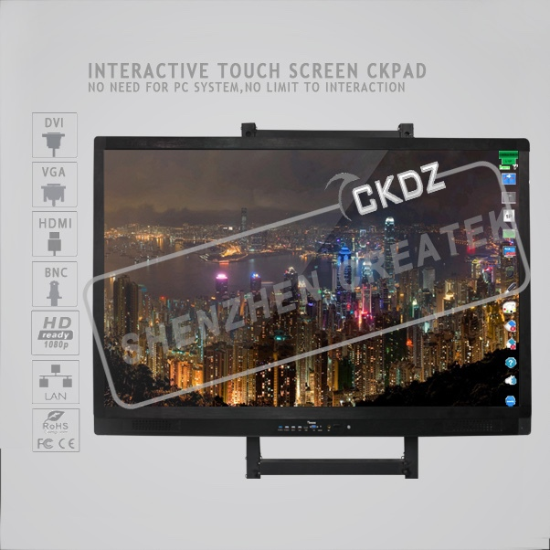 hardware based interactive LCD touch screen white board 65 inches 75 inches