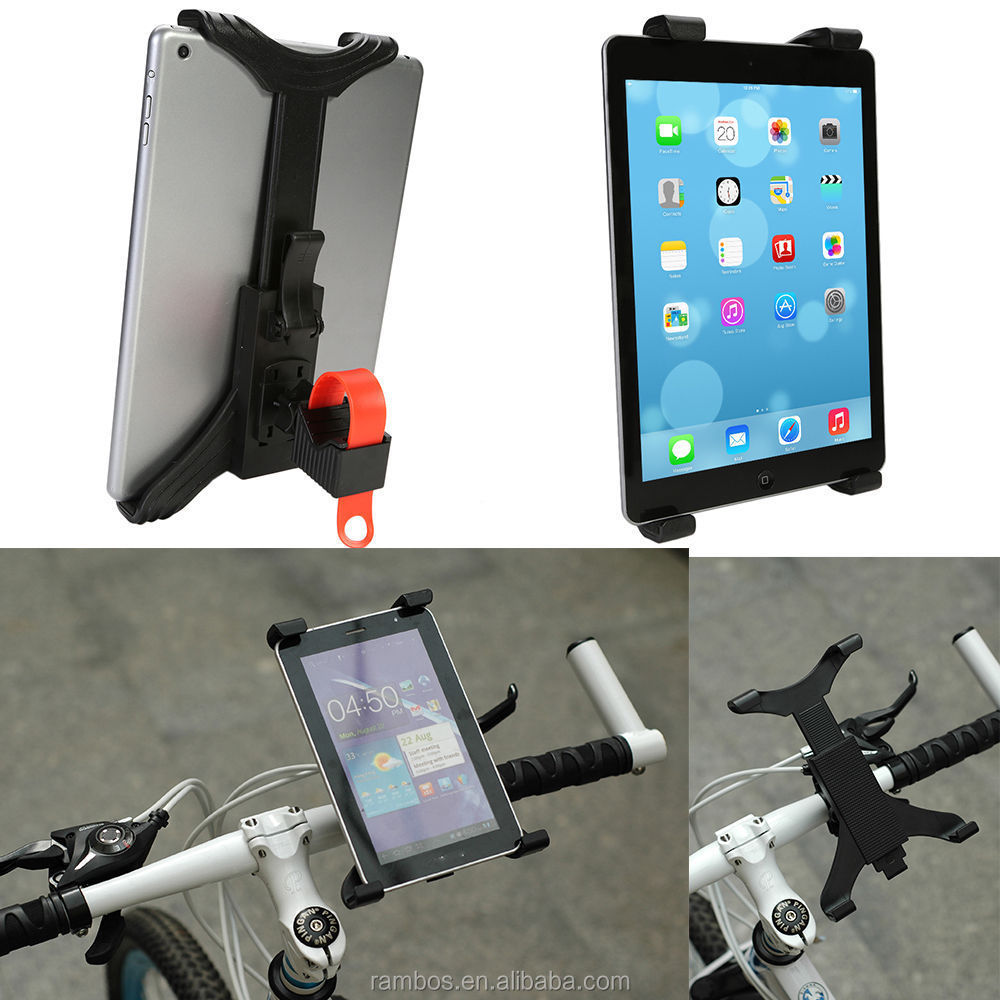 360 Rotating Cycling Bike Handlebar Tablet Mount Treadmill Holder for 7-11inch Tablets Stand