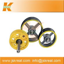 Elevator Parts|Elevator Deflector Sheave Manufacturer|elevator traction machine part