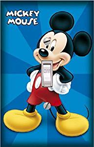 MICKEY MOUSE - Light switch Cover- MICKEY- Switch Plate Cover-Wall plate