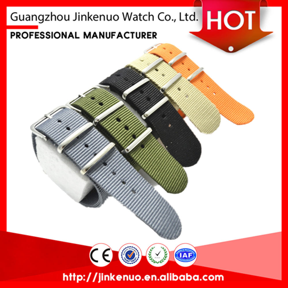 Whloesale new fashion colorful nylon watchband nato strap 20mm