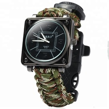 2018 Populaire Groothandel militaire 7 strengen survival outdoor <span class=keywords><strong>paracord</strong></span> <span class=keywords><strong>horloge</strong></span>