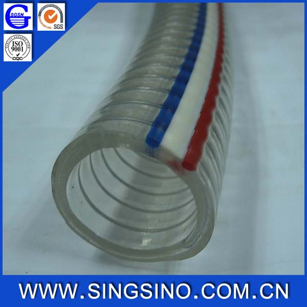 PVC Clear / Transparent 2\'\' Steel Wire Braided Hose, Steel Wire ...