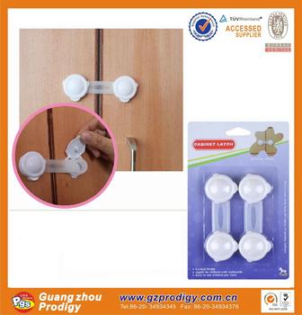 2015 Hot Selling OEM ABS Plastic Closet Door Child Lock, Bottom Door Lock