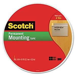 3M Scotch Foam Mounting Tape, 3/4quot;, 1368quot; Long