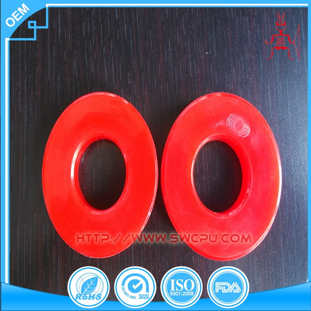 Colored uhmw red plastic washers