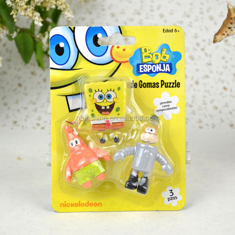 IN50803 Wholesale cool animal series school eraser set