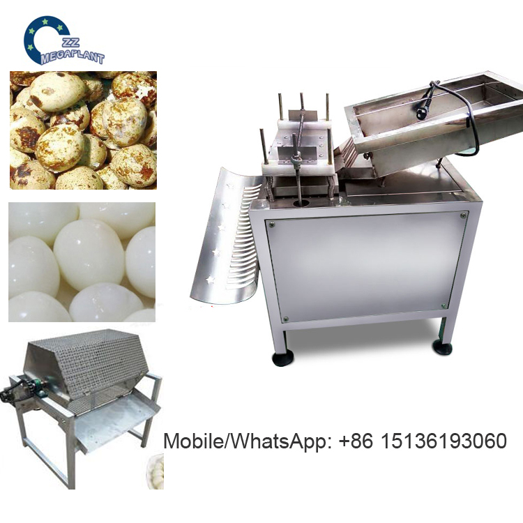 Small electric hard boiled quail egg shelling peeling breaking machine price