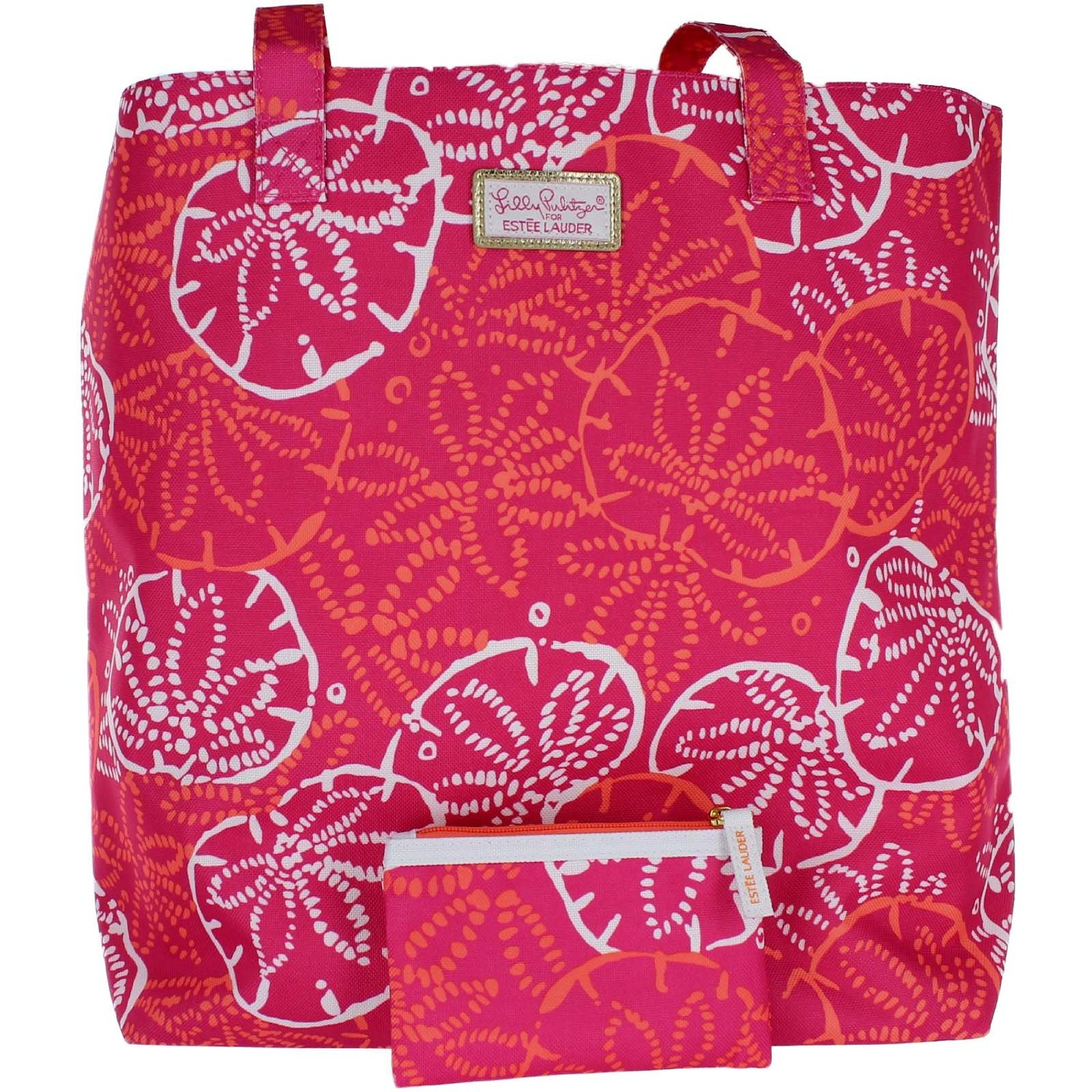"Estee Lauder ""Lilly Pulitzer"" Tote Bag and Zippered Pouch Set"