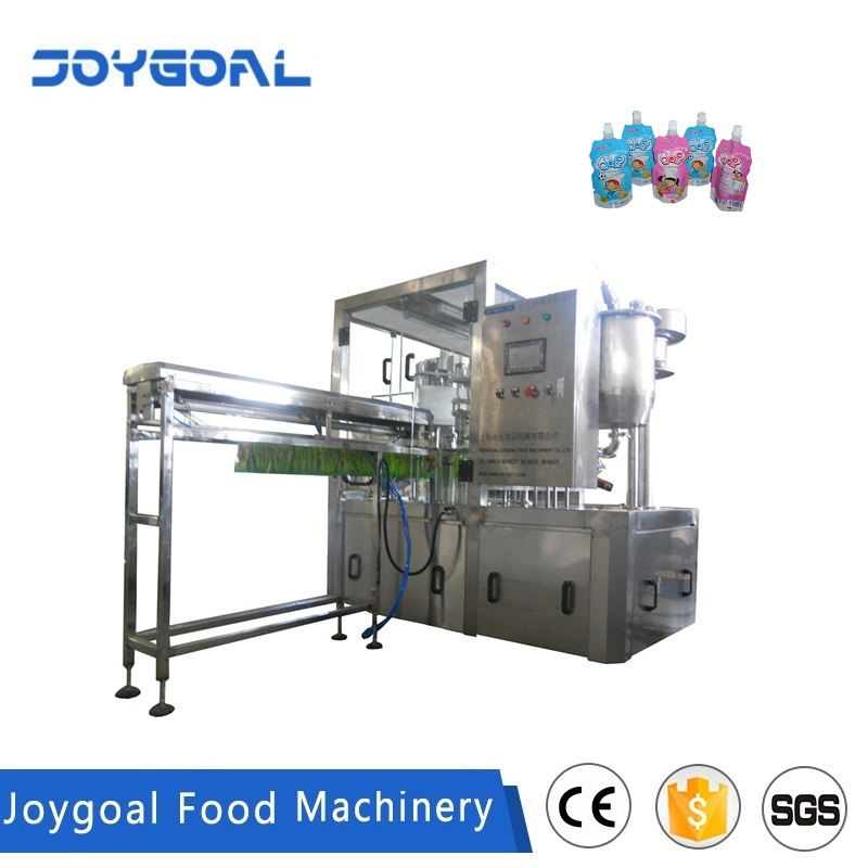 JOYGOAL shanghai factory price high quality automatic spout pouch filling and sealing machine