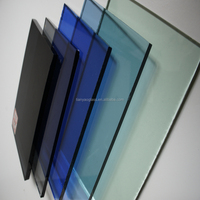 top quality 5mm dark green float glass price color flat glass