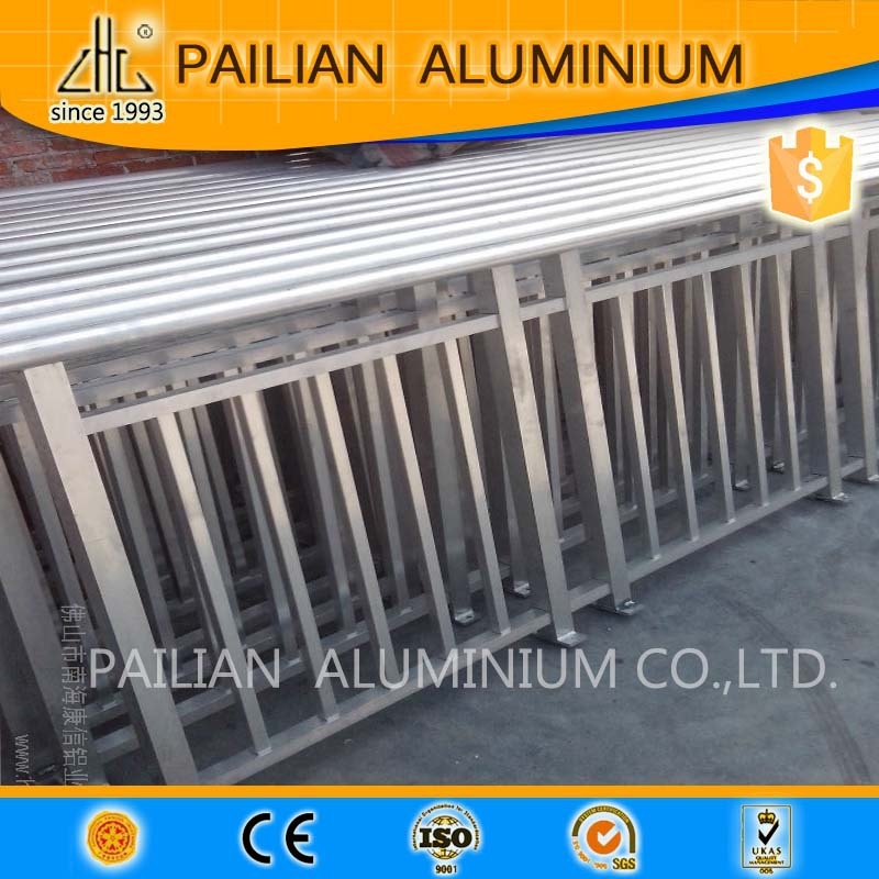 Powder coating aluminum garden fence gate,aluminum fence extrusion profile price per kg,anodized aluminium fence for garden