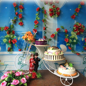 TYDGJ-004 The New European Metal Bicycle Wedding Cake Stand Creative 3 Tier Birthday Cake Shelf Flower Dessert Multi Frame