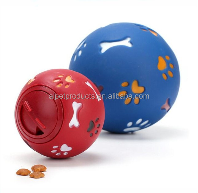 Pet Intelligence and IQ Training Chew Toys Interactive Treat Toy Rubber Ball for Dogs, Puppies, Cats