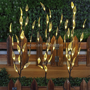 Solar powered garden tree shaped stake light3 tree branches with 60 solar powered garden tree shaped stake light 3 tree branches with 60 leds workwithnaturefo