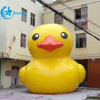 Giant inflatable yellow duck/yellow rubber duck/water duck 7m height