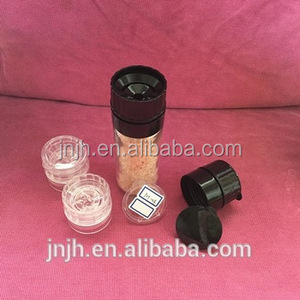 Spice grinders jars with glass bottle for wholesale