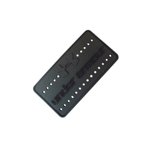 High quality black soft silicone rubber badge, brand rubber label patch