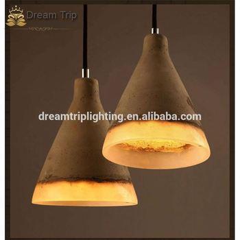 Nordic Scandinavian Style Pendant Lighting Accessories Concrete Lamp Holder