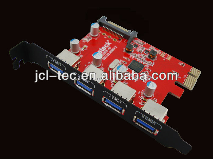 4 Ports Usb 3.0 Pci Express Card,Fresco Fl 1100 Chip,Compatible ...