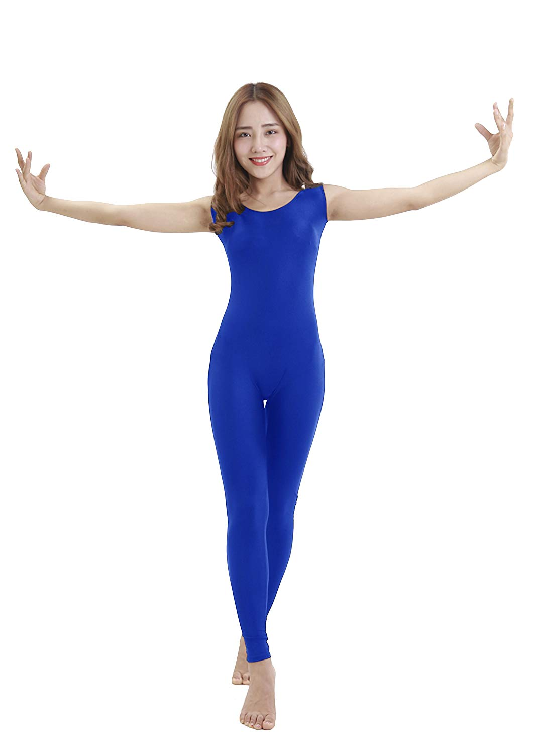 43a795adc8 Get Quotations · Felicirisa Womens Scoop Neck Sleeveless Lycra Unitard  Bodysuit Jumpsuit