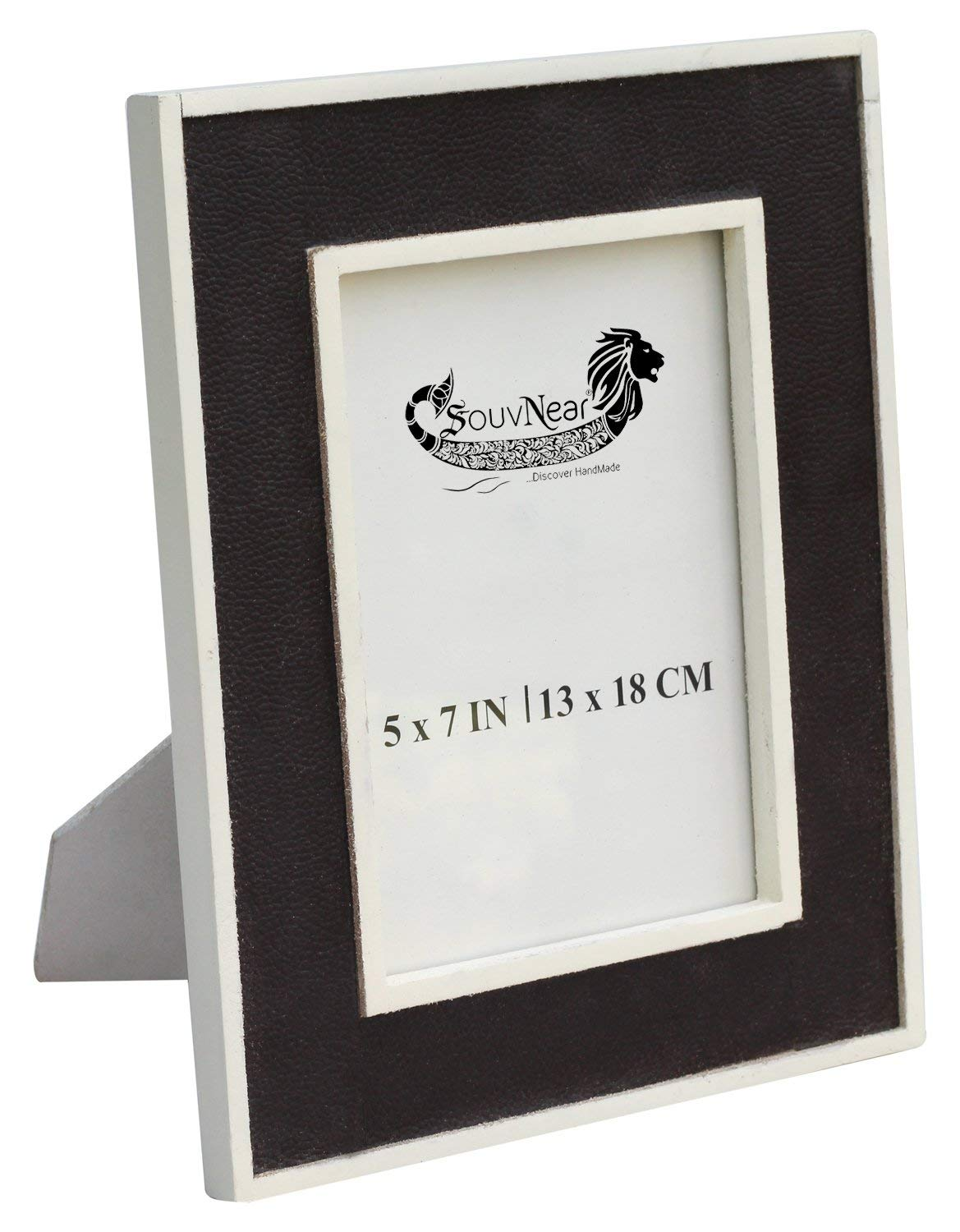 Souvnear Picture Photo Frames 4x6 White Rustic Brown Handmade Table Top Accessories