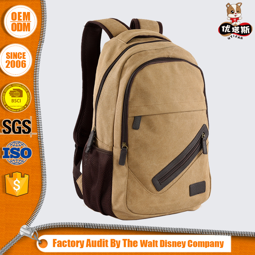 2017 high quality washed canvas backpack