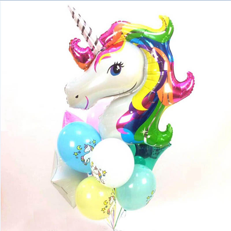 New Arrived Colorful Unicorn Foil Balloon Animal Horse Decor Balloon for Baby Party