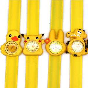 Wholesale Children Gift Fashion Trends Anime Cartoon Slap Bracelet Silica Gel Children Watch