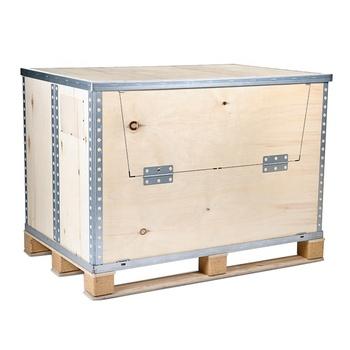Collapsible Wood Pallet Ng Hinge Stackable Box
