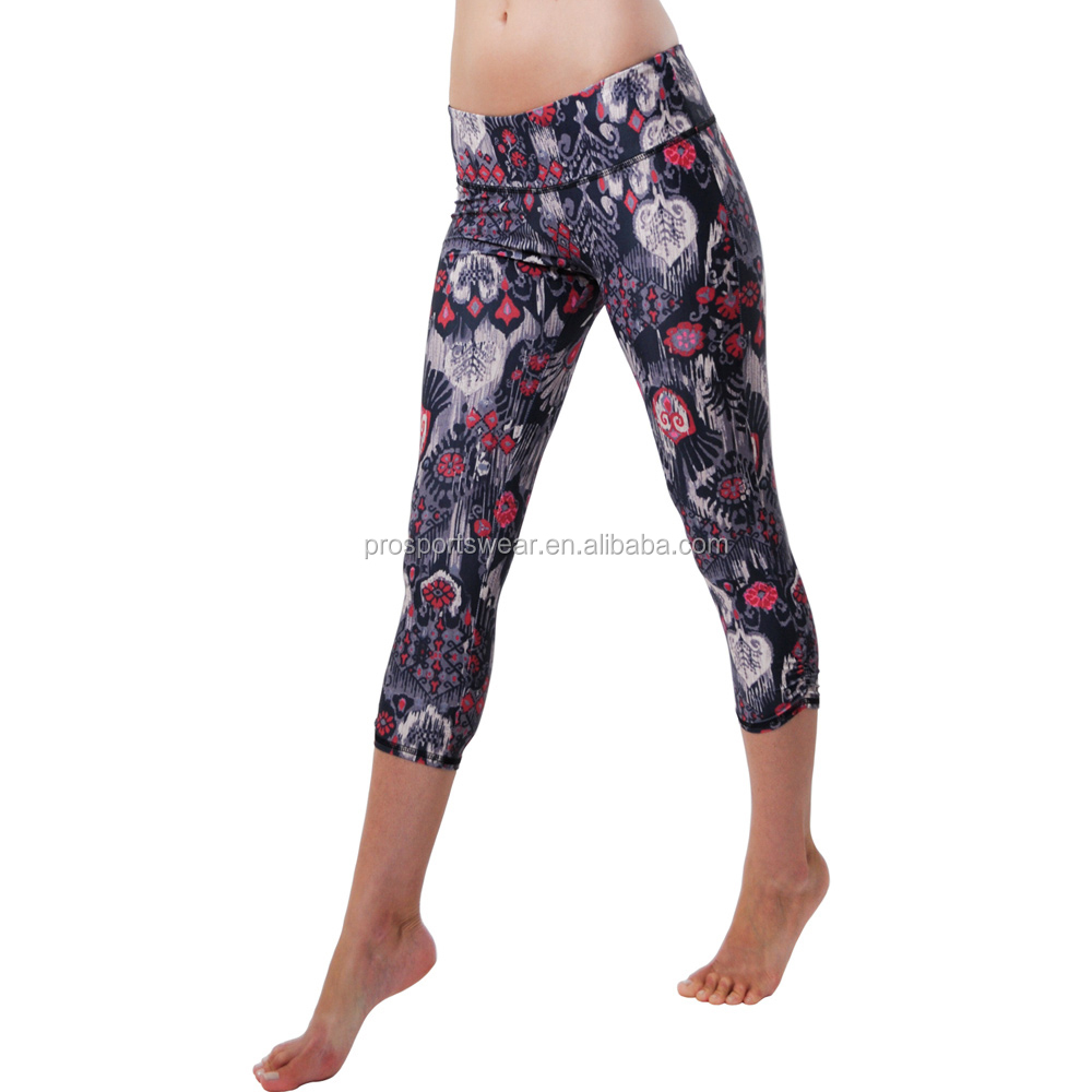 2015 Custom Design Printed Capri Yoga Leggings Yoga Pants ...