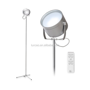 Hotel Office Standing Lamps Modern LED Touch Flexible Floor Tripod Lamp with Remote Controller