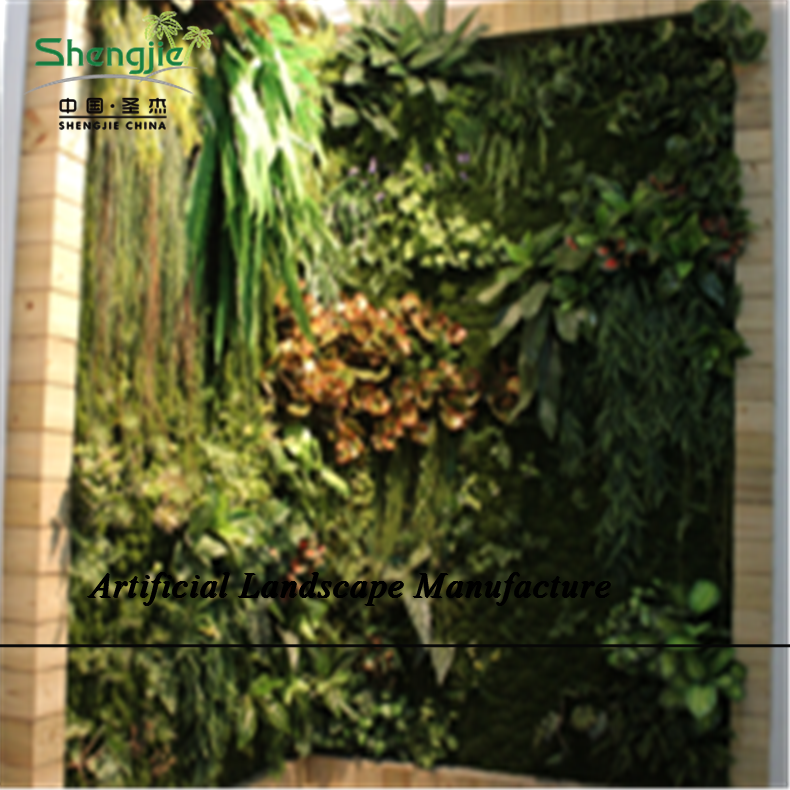 Sjzjn 390 vertical planta paredes artificiales muro verde for Plantas artificiales jardin vertical